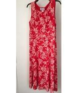Jessica H Waist Dress Womens 14 Corral/White Sleeveless NWT - $21.96