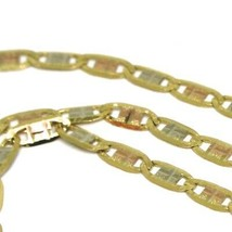 18K YELLOW ROSE WHITE GOLD CHAIN 19.7 INCHES OVAL LINK 2 MM, MADE IN ITALY image 2