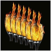 6 Pack - 96 LED Waterproof Solar Flickering Flame Torch - Outdoor Tiki T... - $109.56