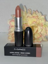 MAC LUSTRE LIPSTICK (HUG ME 508) AUTHENTIC NIB NUDE PINKY BROWN Fast/Fre... - $19.75