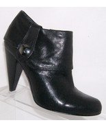 Jessica Simpson 'Virginia' black cuff side zip round toe bootie heel 6.5B - $32.96