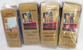 Vtg DeNardi De Nardi Childrens Tights lot Black Blue Wool 10 Italy 70s P... - $44.99
