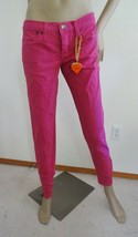 New Dittos Low Rise Stretch Skinny Ankle Zip Denim Jeans Sz 28 6 Hot PInk  - $27.67