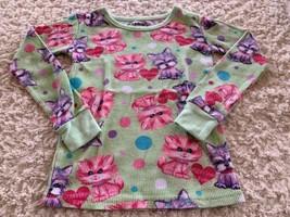Joe Boxer Girls Green Purple Pink Dogs Cats Therma Long Sleeve Pajama Sh... - $5.95