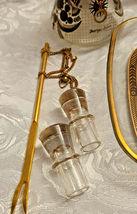 RARE 1950's Georges Briard Sonata Dove Rectangle Glass Tray & Cruets V&O image 2
