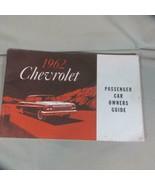 1962 Vintage Chevrolet Passenger Car Owners Manual - $14.01