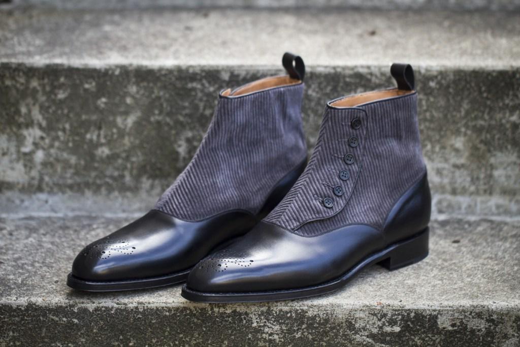 Handmade Men Two Tone Ankle Boot Men Button Boot Men