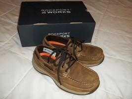 Rockport Works Steel Toe Brown Leather Shoe RK676 Women's 7M RK6736 Men'... - $45.00