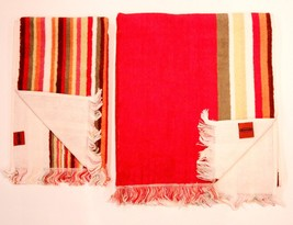 MISSONI HOME Set of 2 SPUGNA Fringe GUEST & HAND Towels FREE SHIPPING - $149.97