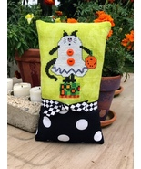 Boo Kitty Halloween Scaredy Cat cross stitch chart Amy Bruecken Designs - $6.00