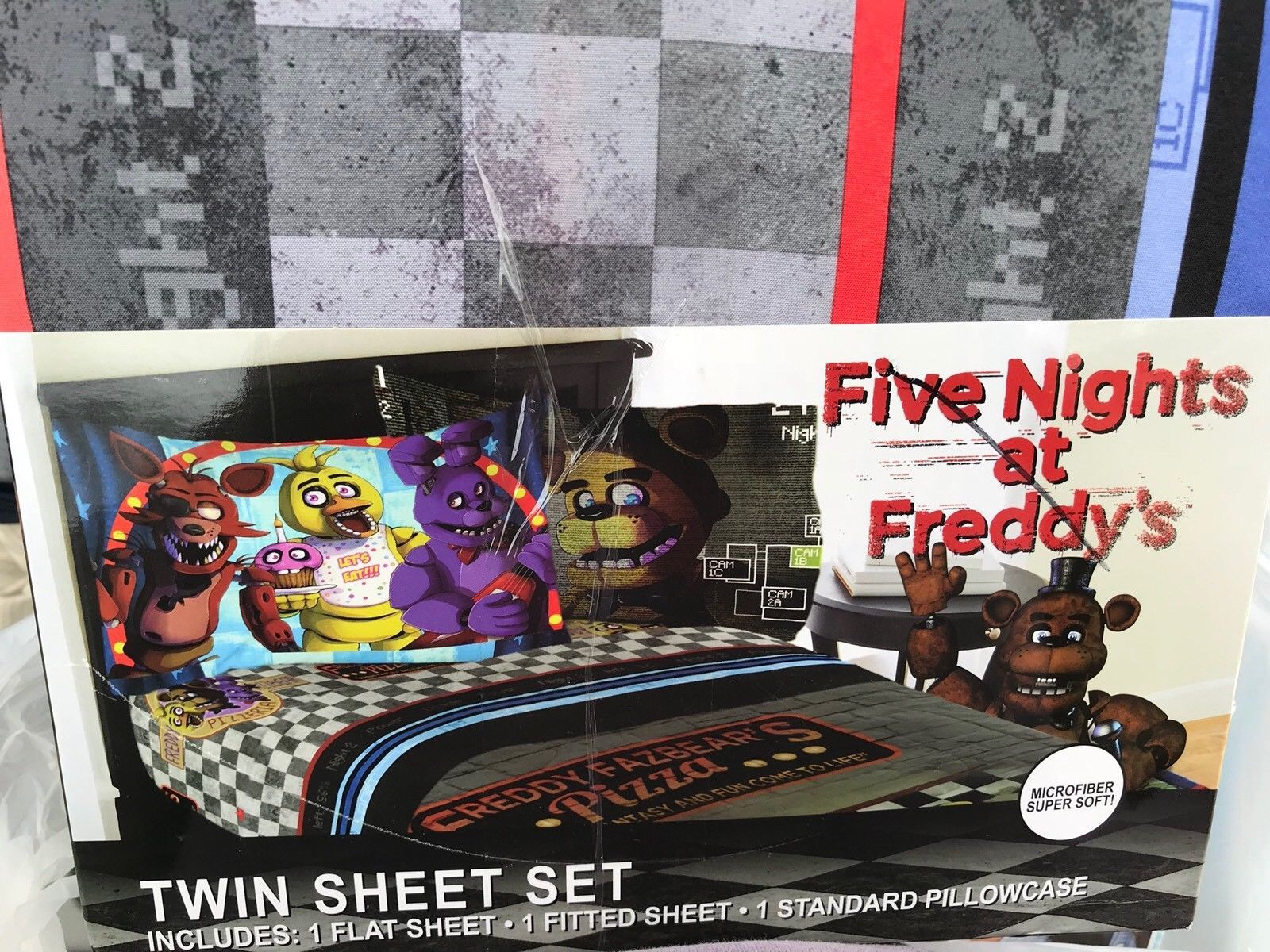 Five Nights at Freddy's Twin Sheet Set By Franco Microfiber Super Soft New