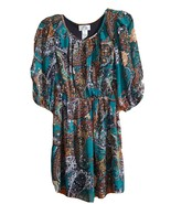 Sweet Storm Green Floral Print Casual Tunic Dress Womens Slit Sleeves Si... - $17.81