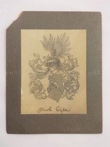1902 antique KEYSER FAMILY COAT OF ARMS ART PRINT by SAMUEL A. RULON gen... - $84.95