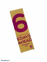 6 Days Ahead Early Result Pregnancy Test - 3 Tests EXP 10/14/2021 Accurate - $8.79