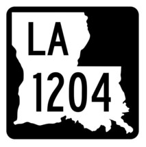 Louisiana State Highway 1204 Sticker Decal R6429 Highway Route Sign - $1.45+