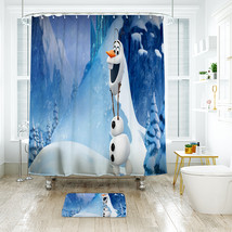 Cartoon 14 Shower Curtain Waterproof Polyester Fabric & Bath Mat For Bat... - $16.30+