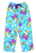 Girl's Large 10/12 Tinker Bell Plush Pajama Pants Sleep Bottoms Disney Fairies