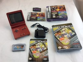 Game Boy Advance, GBA SP Red System Bundle AGS 001 Charger Games - $110.93