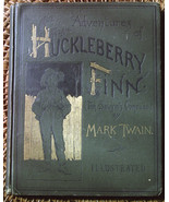 Mark Twain ADVENTURES OF HUCKLEBERRY FINN rare salesmen's sample first s... - $7,350.00
