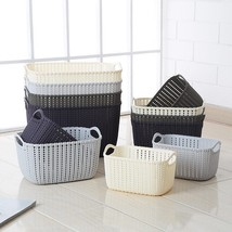 FULLLOVE® Plastic Storage Basket Solid Color Gray Dirty Laundry Basket K... - $26.25