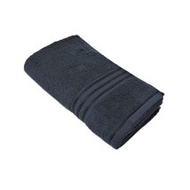 4 X Striped Hotel Quality 100% Egyptian Cotton Black Bath Sheet Towel 600GSM - $48.12