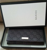 3ca5889b0370 NIB Gucci GG brown leather continental wallet; - £383.12 GBP