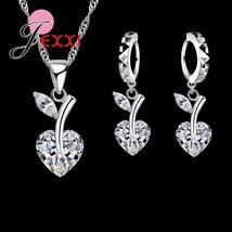 Petite Zig Zag Detail Earrings & Pendant Set 925 Sterling Silver T1001