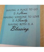 """Having Both..Blessing Wall Decor Wall Sentiment Peel n Stick Decal 22"""" x... - $9.49"""