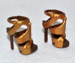 Barbie Basics Fashion Accessory - Copper Gold High Heels Multiple Straps... - $4.99