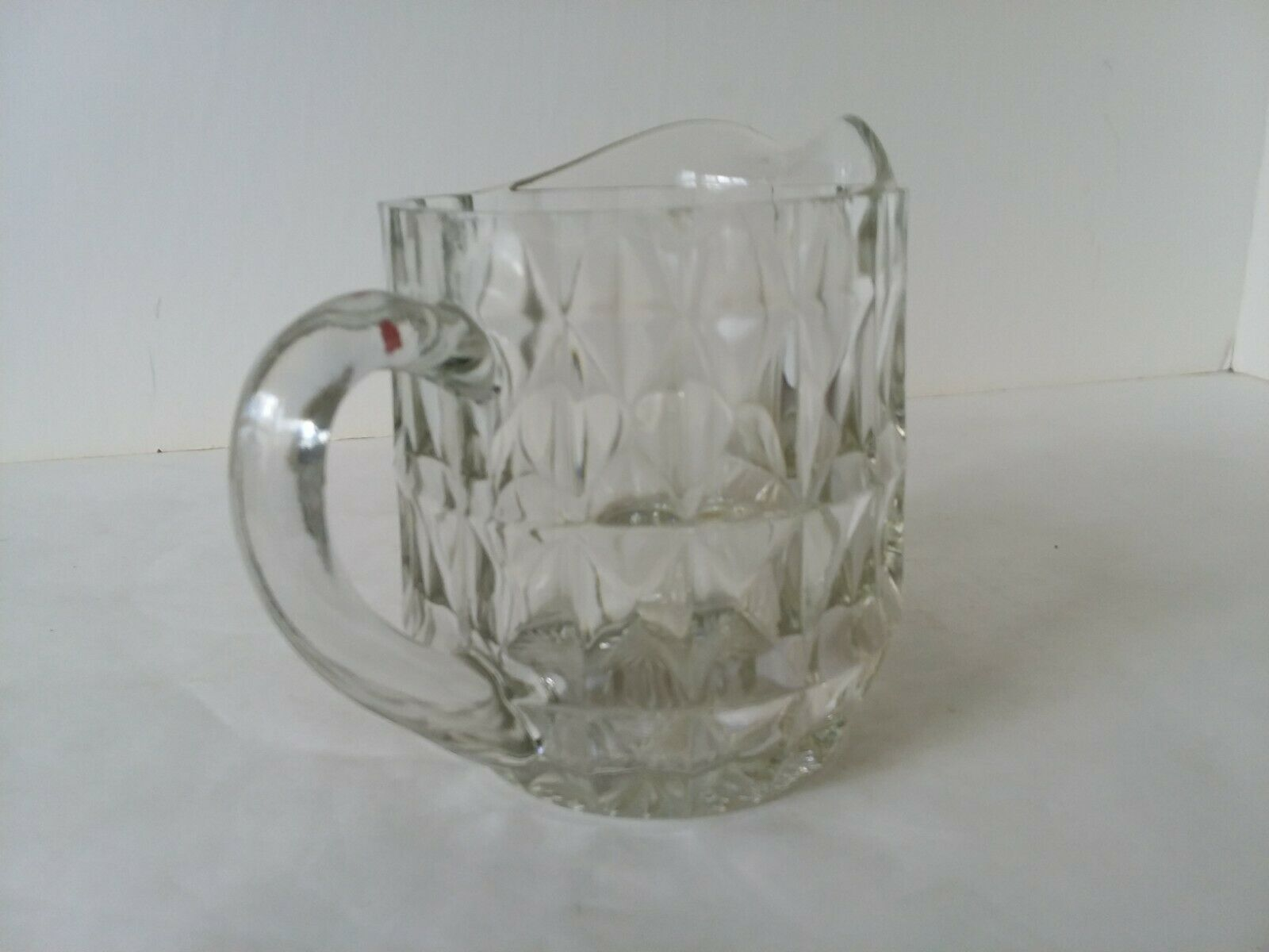 Small Personal Cut Glass Juice Milk Pitcher Breakfast in Bed