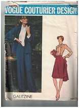 1111 Vintage Vogue Sewing Pattern Jacket Pants Skirt Blouse Galitzine Co... - $14.94