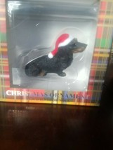 Christmas Ornament Dachshund Black - $30.57