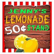 Ice Cold Lemonade Stand Sign Personalized Banner - $24.75