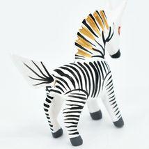 Oaxacan Alebrijes Copal Wood Carved Painted Folk Art Miniature Zebra Mini Figure image 4