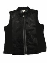 Chico's Faux Fur Vest Black 25th Anniversary Fall Winter Chicos Sz 3 Wom... - $29.99