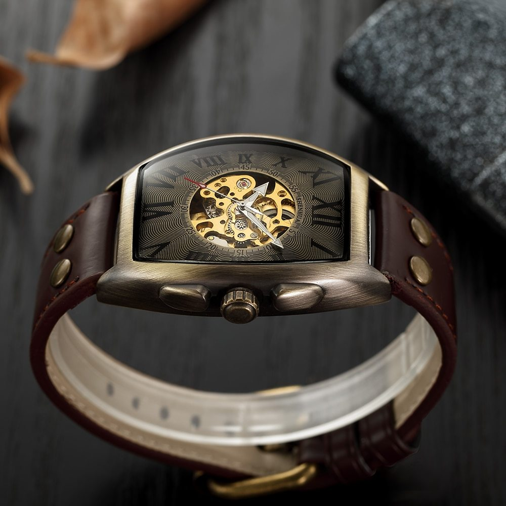 Shenhua 2019 Vintage Automatic Watch Men Mechanical Wrist Watches Mens Fashion S