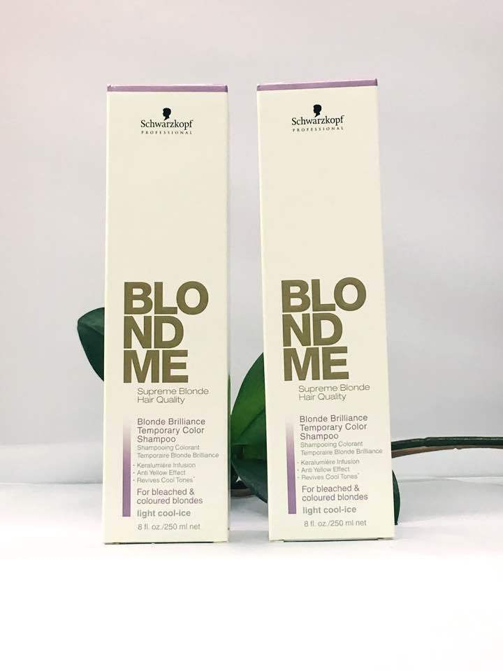 Schwarzkopf Blonde Brilliance Temporary Color Shampoo Cool Ice OR Warm-Caramel