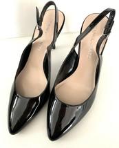 FRANCO SARTO Harla Black Patent Leather Slingback Pumps Heels SZ 8.5M image 2