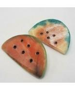 Vintage Lot of 2 Watermelon Paper Weight Alabaster Marble Fruit Desk Decor - $78.00