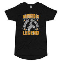 Motocross Stunt Master Legend Adventure Long Body Urban Tee - $23.67+