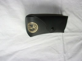 RAY BAN BLACK LEATHER SUN GLASSES EYE GLASS CASE SNAP CLOSURE - $6.99