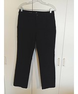 ST. JOHN'S BAY LADIES BLACK CASUAL PANTS-6-NWOT-SPARE BUTTON BAG ATTACHE... - $8.99