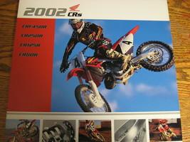 2002 Honda Motocross Brochure CR450R CR250R CR125R CR80R Xlnt  - $29.70