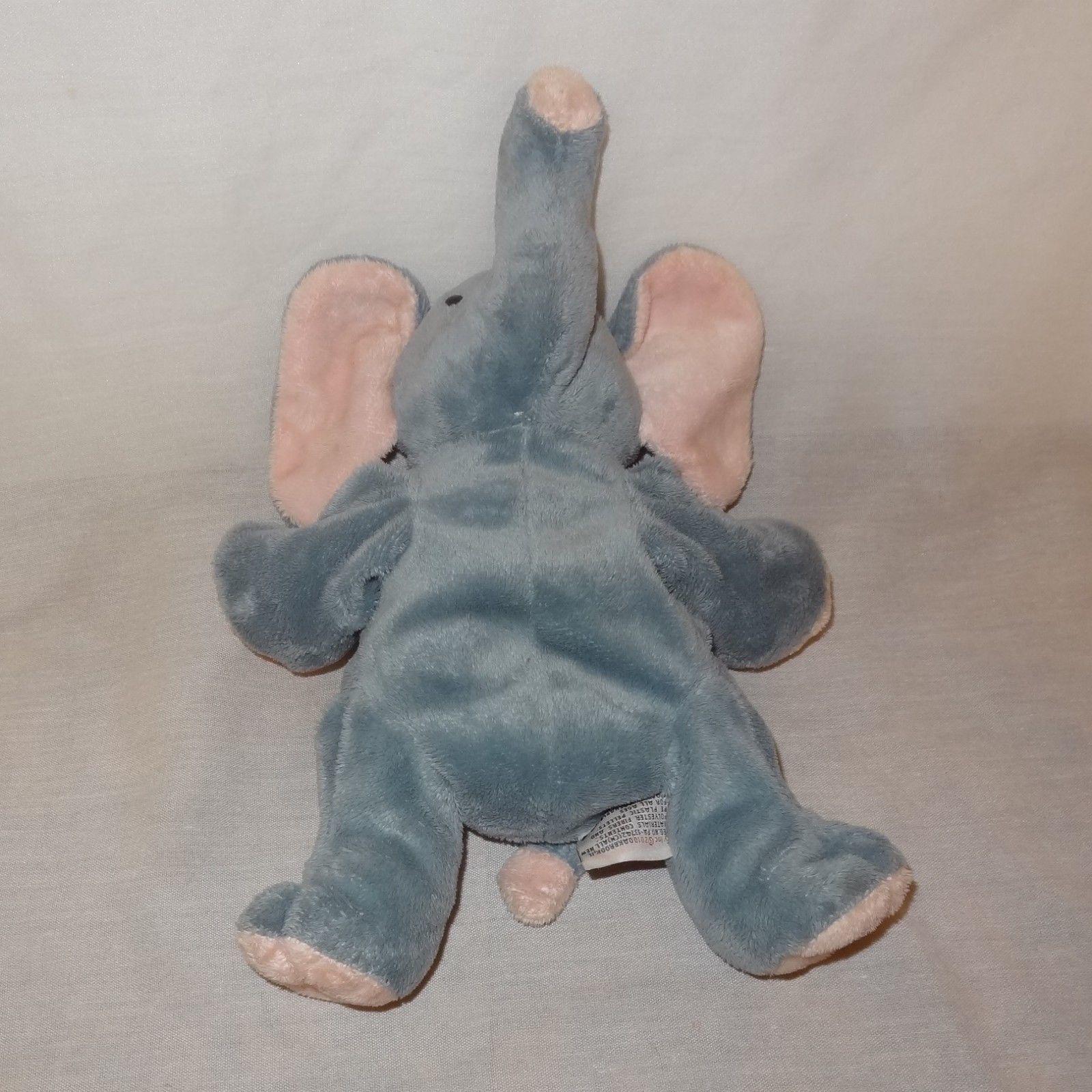 "Elephant 2010 Ty TyLux Plush Stuffed Animal 8"" Gray Pink Toy"