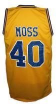 Randy Moss #40 Dupont High School Basketball Jersey New Sewn Yellow Any Size image 5