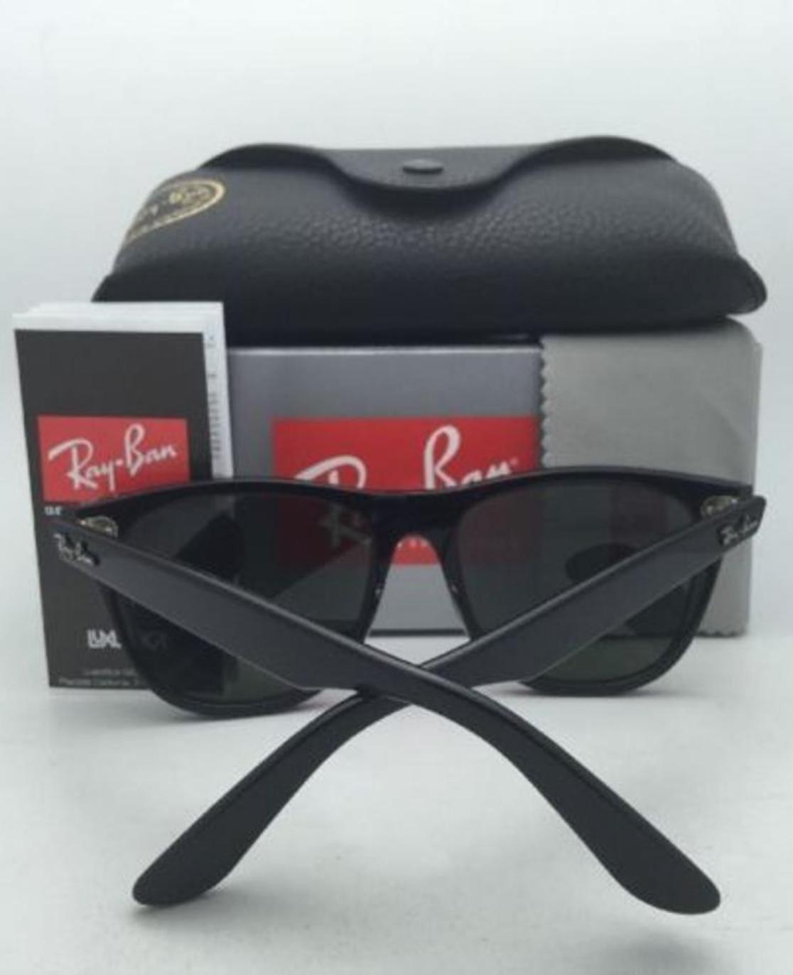 New Ray-Ban Sunglasses RB 2140 901 54-18 150 WAYFARER Black w/ G15 Green Glass