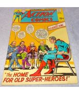 Action Comic Book March 1970 No 386 DC Superman The Home for Old Super H... - $9.95