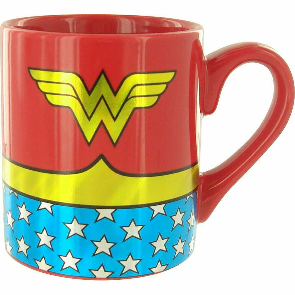 Primary image for Wonder Woman Costume Gold Foil Mug Red