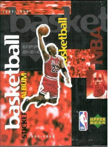 NBA Basketball 1997-1998 Upper Deck Empty Album