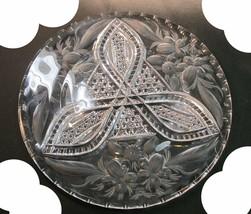 ABP cut glass plate American brilliant floral - $157.67